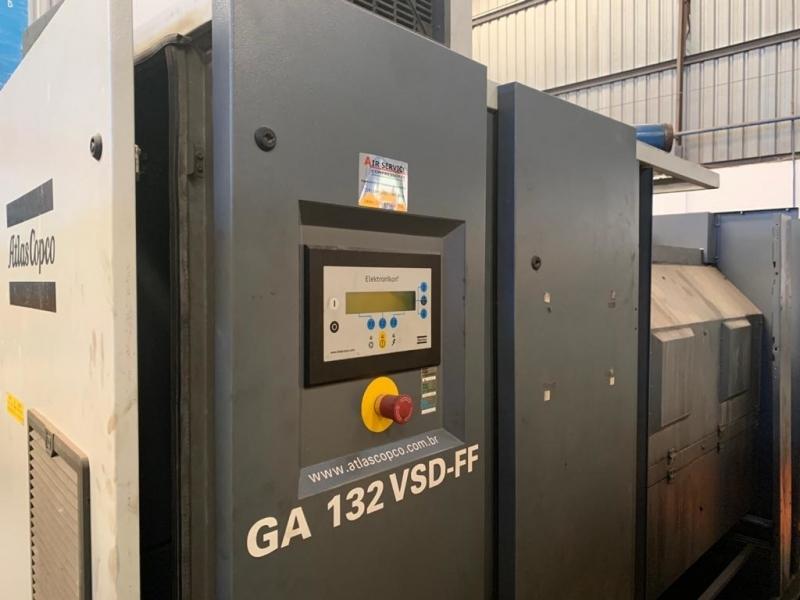 Compressor de Ar Industrial Parafuso Melhor Preço Santa Gertrudes - Compressor Refrigeração Industrial