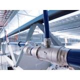 rede de distribuição de ar comprimido